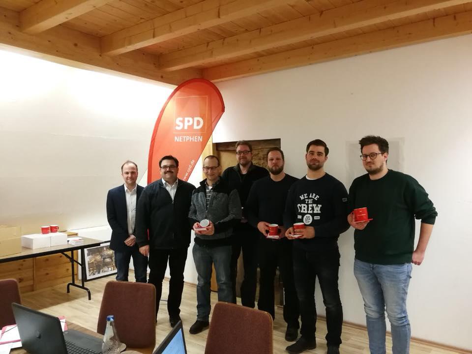 SPD Netphen mit den Neumitgliedern